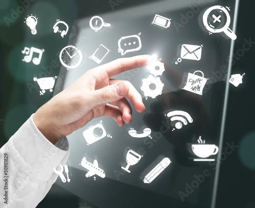 hand pushing interface
