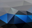 blue grey Geometric background vector eps
