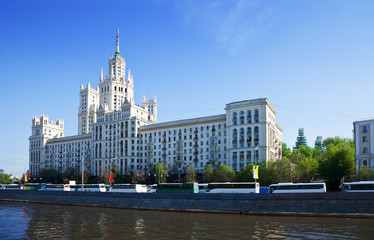 View of Moscow with Kotelnicheskaya Embankment Building