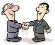 Handshake of businessmen from different nationalities.