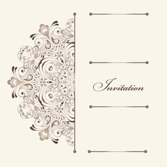 Beautiful invitation card with floral elements