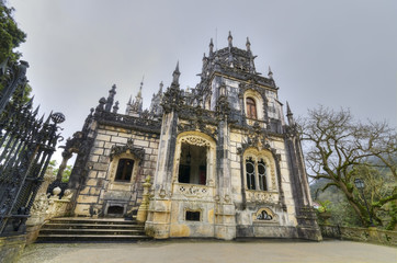 Old Mansion in Quinta da Regaleira, Sintra, Portugal.