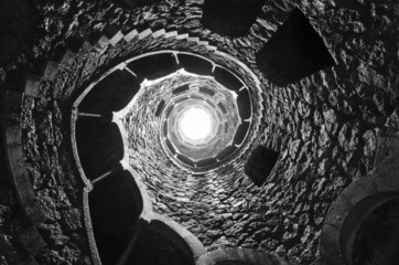 Masonic initiation well in Quinta da Regaleira, Sintra.