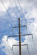 Electricity Pylon, Cloudy Skyscape