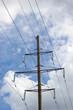 Electricity Pylon, Cloudy Skyscape