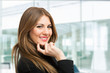 Beautiful smiling businesswoman portrait