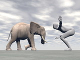Yoga elephant - 3D render