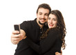 Pareja se retrata con un Smart Phone