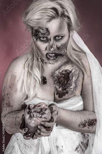 Staande foto Imagination zombie bride
