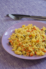 Close-up view of Couscous