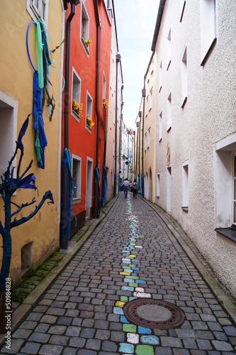 Kleines Gäßchen in der Passauer Altstadt