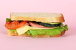 Sandwich on pink background