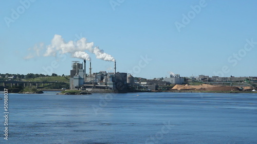 Pulp and Paper mill. Saint John, New Brunswick.