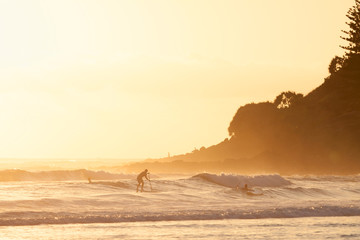 Stand up paddle surfing in Burleigh Heads