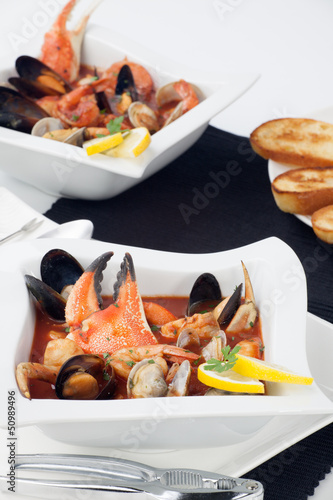 Seafood stew with Crab Claw