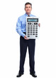 Accountant Businessman with calculator.
