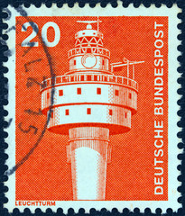 Modern lighthouse (Germany 1975)