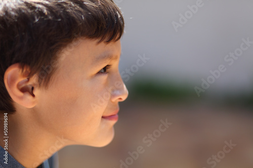 Profile of young boy