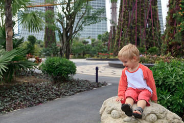 baby in gardens by the bay, Singapore