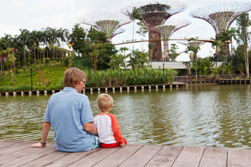 family in gardens by the bay, Singapore