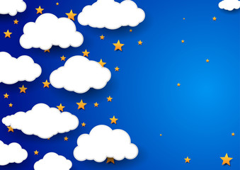 Night sky background - childish wallpaper