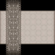 Vintage background with seamless lace ribbon