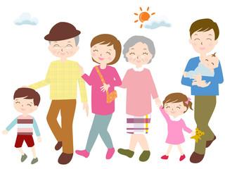 三世代 家族 お出かけ 外出