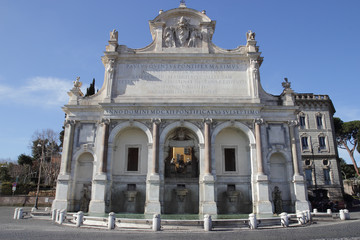 The Fontana dell'Acqua Paola in Rome