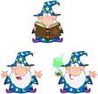Wizard Cartoon Characters. Collection 2