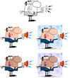 Business Man Cartoon Characters. Collection 5