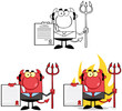 Devil Boss Cartoon Characters. Collection 4