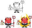 Devil Boss Cartoon Characters. Collection 5