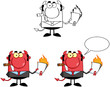 Devil Boss Cartoon Characters.Collection 7