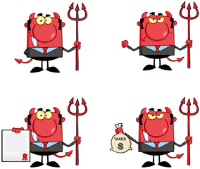 Devil Boss Cartoon Characters.Collection 1