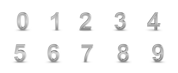 Numbers set from 0 to 9