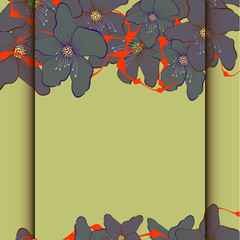 Abstract flowers pattern, Vector Illustration