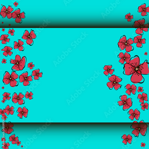 Tuinposter Abstract bloemen Poppy Pattern