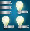 Vector light bulb idea modern template design
