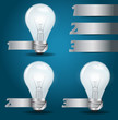 Vector light bulb idea modern template design