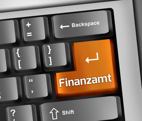 "Keyboard Illustration ""Finanzamt"""