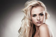 Portrait of beautiful tender blond woman
