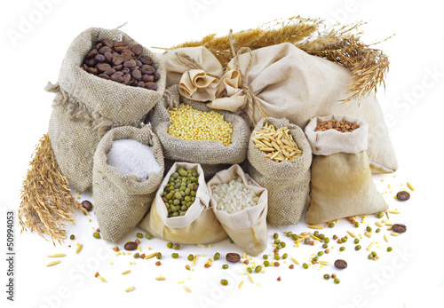 Bags with cereals and herbs