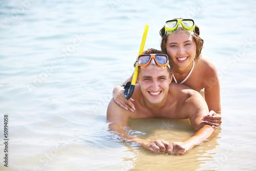Smiling divers