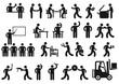 Arbeitsplätze Piktogramm