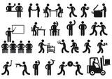 Fototapety Arbeitsplätze Piktogramm