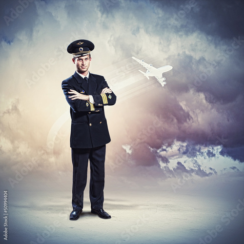 Image of male pilot