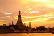 beauty of pagoda at wat arun in thailand