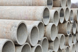 Stacked concrete pipes