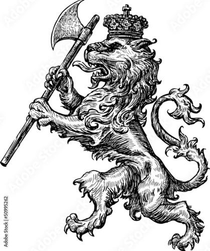 armorial lion - 50995262