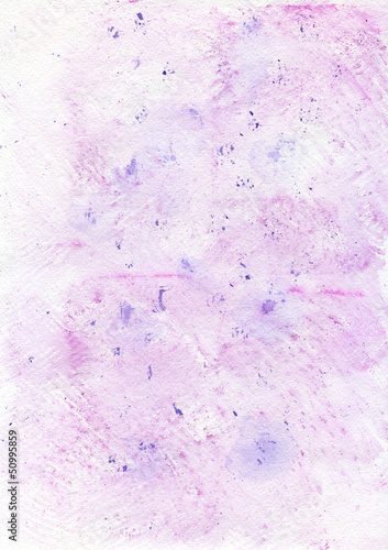 Watercolor light pink hand painted background